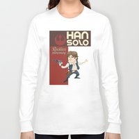 han solo Long Sleeve T-shirts featuring Han Solo by Alex Santaló