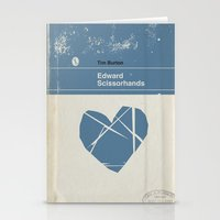 edward scissorhands Stationery Cards featuring Edward Scissorhands by Bubblegum Prints