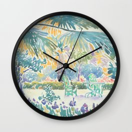 Garden of the Painter at Saint Clair by Henri-Edmond Cross 1908, French Wall Clock