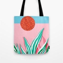 Freakin' - memphis throwback style palm springs neon art print 1980s vintage desert road trippin Tote Bag