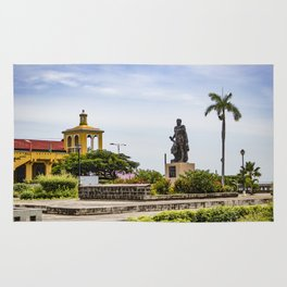 Statue of Cordoba by Lake Nicaragua in Granada Rug
