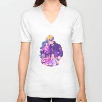 pastel goth V-neck T-shirts featuring Pastel Goth Haruka & Michiru by Gunkiss