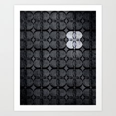 Pattern Eight Black and White Art Print