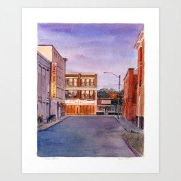 Union Street, Pittsfield MA Art Print