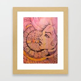 Hollow Moon Framed Art Print