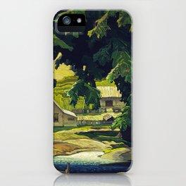 Farm Haliburton oil on hardboard 1940 Franklin Carmichael Canadian artist Art Nouveau Post-Impressio iPhone Case