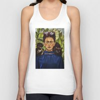 frida Tank Tops featuring FRIDA by NOXBIL
