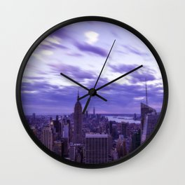 City at Sunset Wall Clock