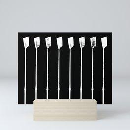 Rowing Oars 1 White Mini Art Print