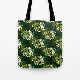 Hills-of-snow hydrangea pattern Tote Bag