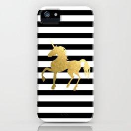 Golden Unicorn Power iPhone Case
