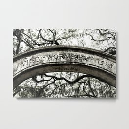 Welcome to Old Wormsloe Plantation Metal Print