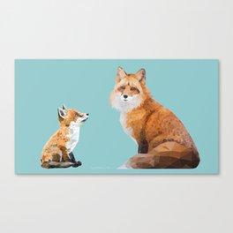 Fox Tenderness Canvas Print