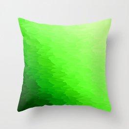 Green Texture Ombre Throw Pillow
