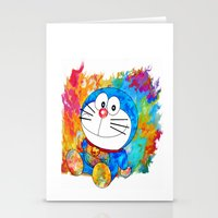 doraemon Stationery Cards featuring Doraemon by ururuty