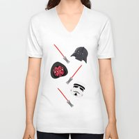 dark side V-neck T-shirts featuring dark side by ptero