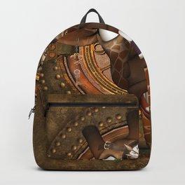 Steampunk, Funny giraffe Backpack