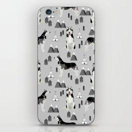 Husky siberian huskies mountains pet portrait dog dogs pet friendly dog breeds gifts iPhone Skin