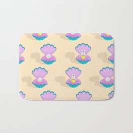 Space Birth of Venus | Astronaut Seashell | Pearl in Seashell | Under the Sea | pulps of wood Bath Mat
