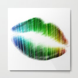 Kissing lips Metal Print