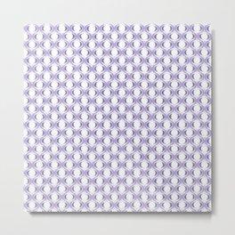 Purple Ogee Ikat Pattern  Metal Print