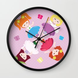 Polly Pocket Pattern Wall Clock