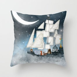a nautical adventure (above the clouds) Throw Pillow