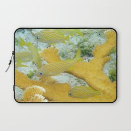 Yellow Coral Reef Fish Laptop Sleeve