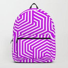 Psychedelic purple - violet - Minimal Vector Seamless Pattern Backpack