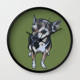 Artie the Chihuahua Wall Clock