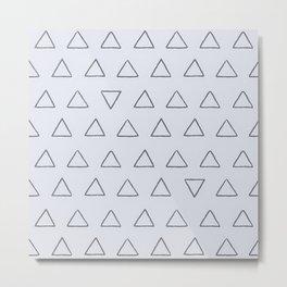 Simple Triangles Pattern Metal Print
