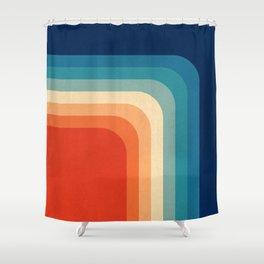 Wonderful Retro 70s Color Palette III Shower Curtain