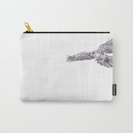 Pencil Drawing - Crow Carry-All Pouch