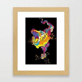 Psychedelic Bear Roar Framed Art Print
