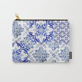 azulejos - Portuguese painted tiles Carry-All Pouch