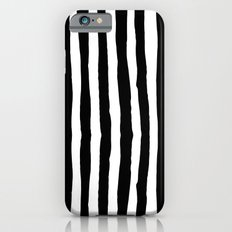 Black and White Vertical Stripes iPhone 6s Slim Case