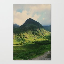 Mountain in Glencoe, Scotland Canvas Print