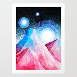The great moons of another world Art Print