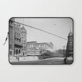 Empire State Express (New York Central Railroad) coming thru Washington Street, Syracuse, N.Y. Laptop Sleeve