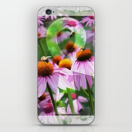 """""""Life"""" - Ankh with Purple Cone Flowers iPhone Skin"""