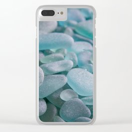 Japanese Sea Glass - Low Tide Blues III Clear iPhone Case