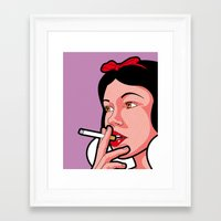 the secret life of heroes Framed Art Prints featuring The secret life of heroes - Snow Smoke by Greg-Guillemin