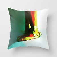 fifth element Throw Pillows featuring fifth  by ebadenlasar