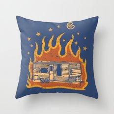 Midnight Trailer Throw Pillow