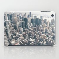 new york skyline iPad Cases featuring New York City Skyline by Vivienne Gucwa