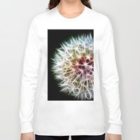dandelion Long Sleeve T-shirts featuring Fractal dandelion by Mark Nelson