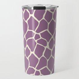 Giraffe Pattern Animal Print (purple) Travel Mug
