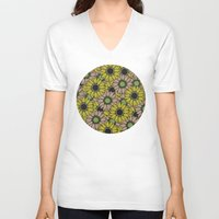 sunflowers V-neck T-shirts featuring Sunflowers by Anna McKay