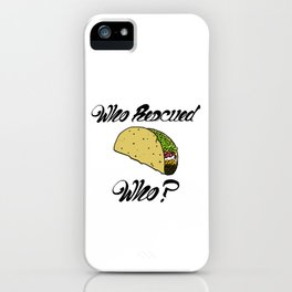 Who Rescued Who? iPhone Case
