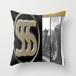 Surfer skater snow boarder art Throw Pillow